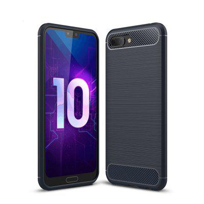 Case para Huawei Honor 10 Luxo Fibra De Carbono TPU Soft Cover