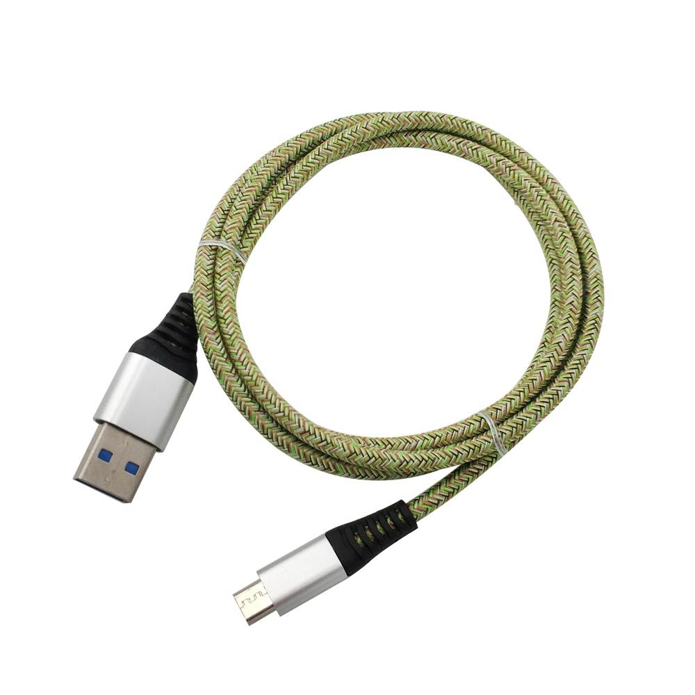 1METER Nylon Micro USB Cabo Saída 2.4A Fast Charge Wire
