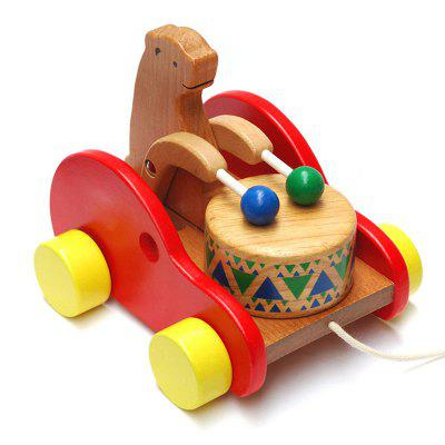 Wooden Drums Bear Creative Educational Toys for Children children assemble wooden screw blocks kids child cartoon diy wood toolbox for early learning educational toys free shipping