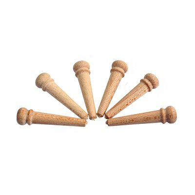 Akustik Gitar 6PCS için Maple Bridge Pin