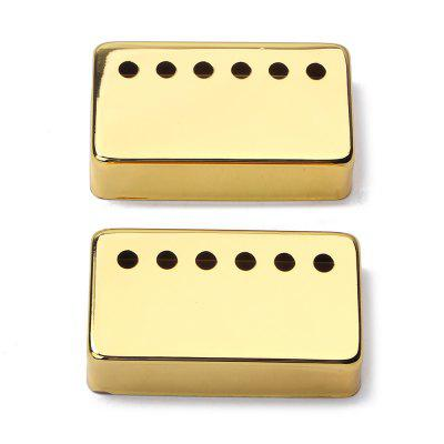 Gold Metal Humbucker Pickup Cover 50 / 52mm for LP Style 2PCS kaish 3x black 3 ply guitar single coil pickup surround ring for st sized pickup