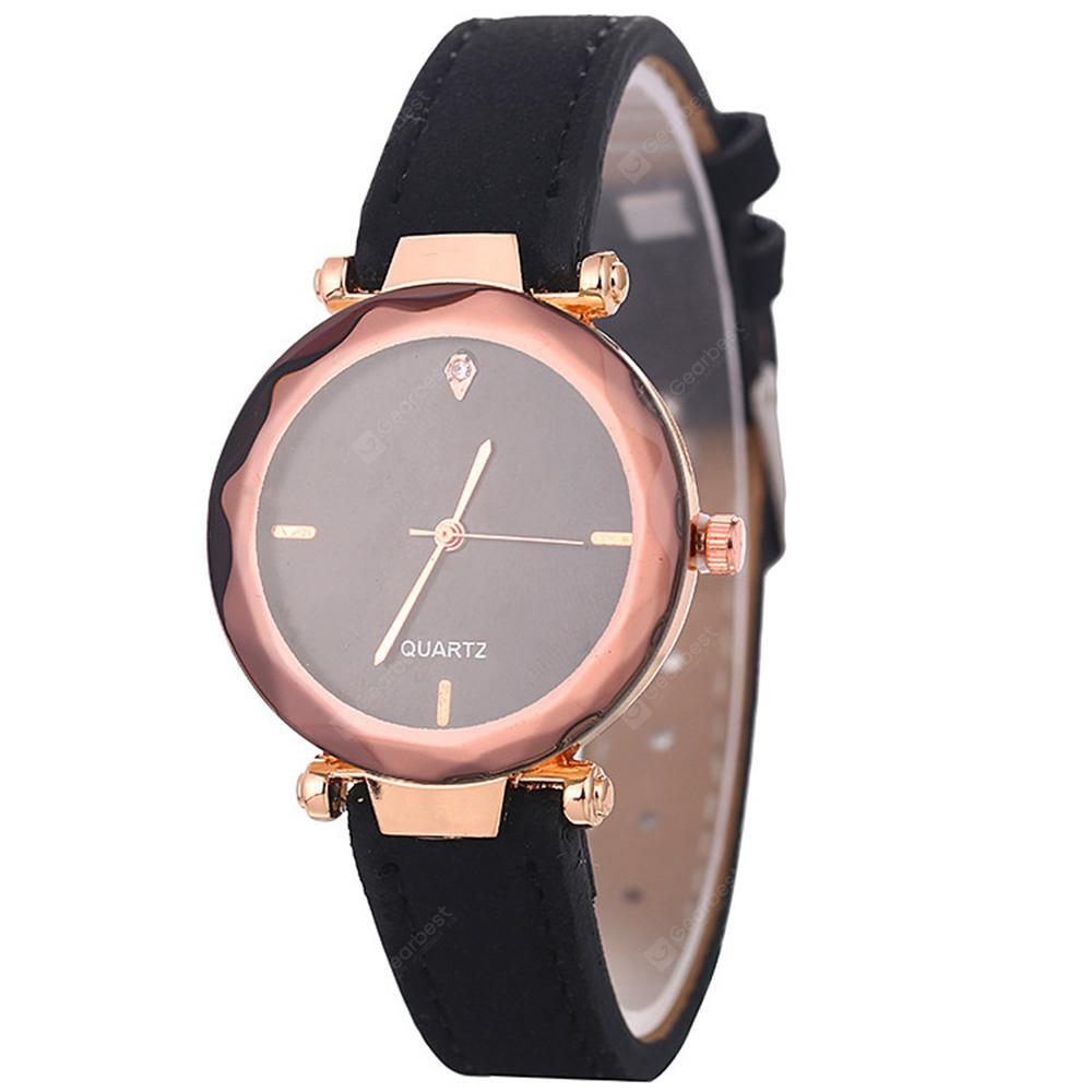 Moda Minimalista Analog Leather Quartz Dress Watch