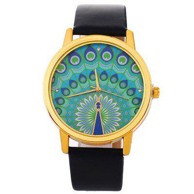 Fashion Women Creative Leather Quartz Colorful Dress Watch