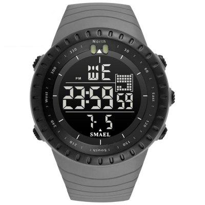SMAEL 1237 Mode-Multifunktions-Silikon-Band Sport-LED-Uhr