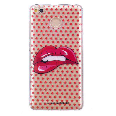 Red Lips Translucent TPU Soft Case for Xiaomi Redmi 4X grasale soft tpu case for xiaomi redmi 4x ultra thin transparent protective back cover for xiaomi redmi 4x shell