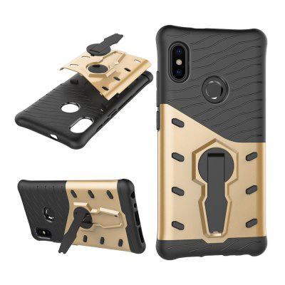 Two-in-One Bracket Anti-Drop Armor Phone Case for Xiaomi 6X drop in saddlebag liners for harley touring road king electra street glide 94 13