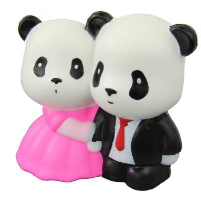 Jumbo Squishy Married Pandas Relieve Stress Toys busy pandas