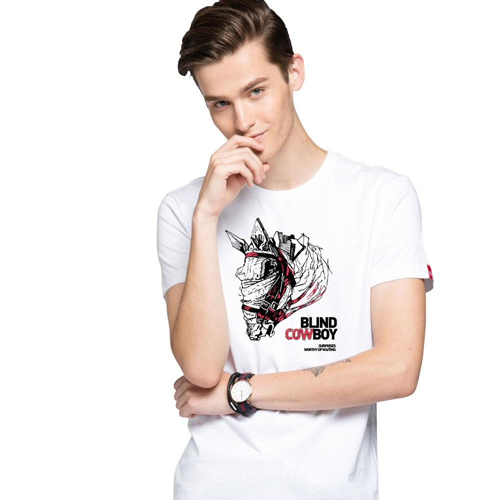 HB Men's Pure Cotton High Definition Printing T-shirt - 000154