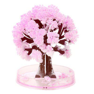 Crescente de cristal Sakura Paper Tree Cherry Novelty Toy