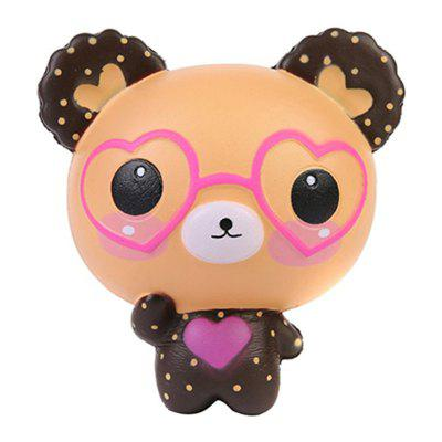 Jumbo Squishy Slow Rising Kawaii Cute Glasses oso de juguete