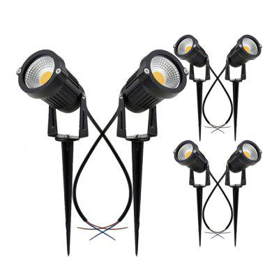 7W COB  Waterproof Outdoor Garden Low Voltage AC12V Lawn Lamp Spiked Stand 6PCS