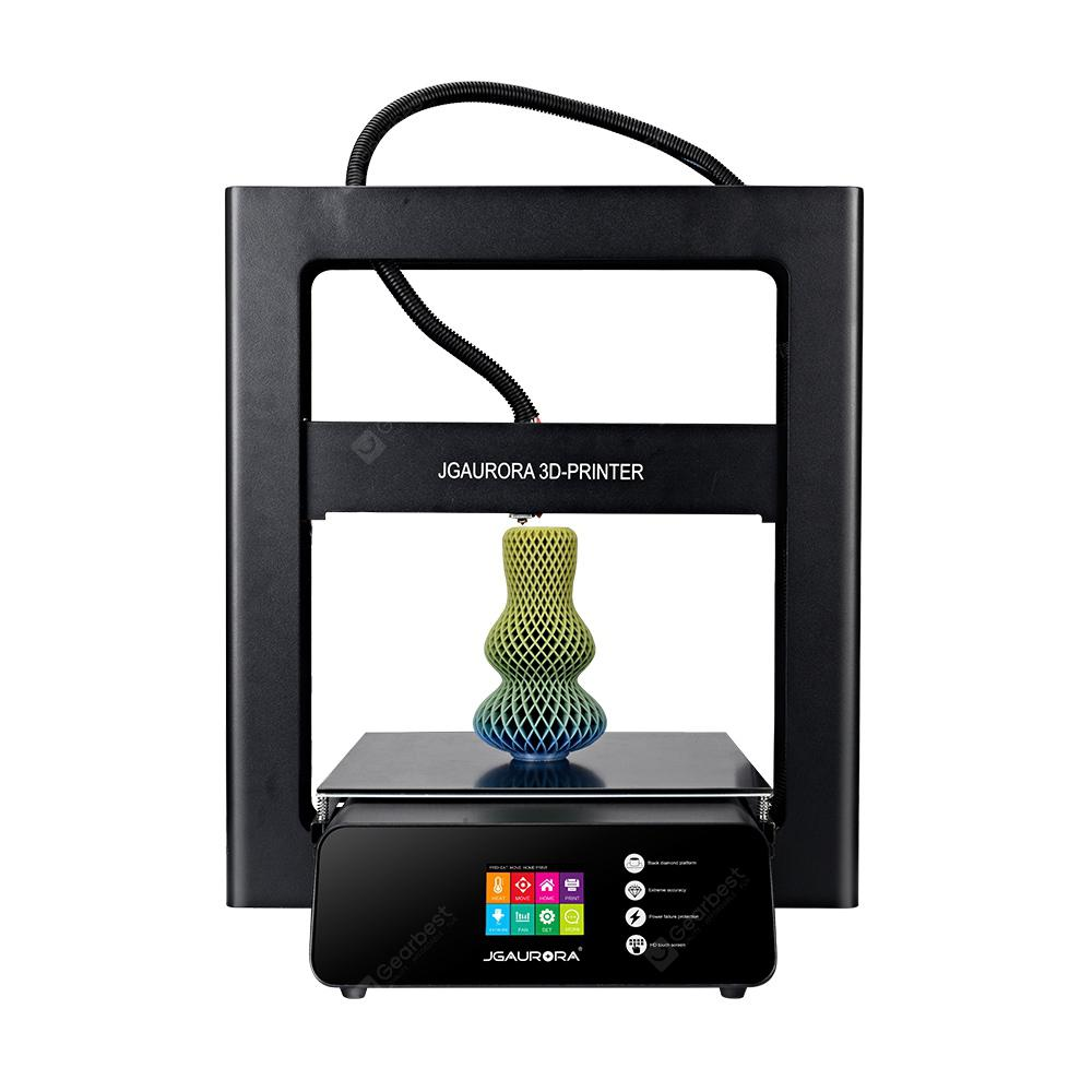 JGAURORA A5 Color Touch Screen Large Print Size 3D Printer - BLACK EU PLUG
