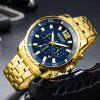 MEGIR 2068 Water Resistance Quartz Male Watch - GOLD