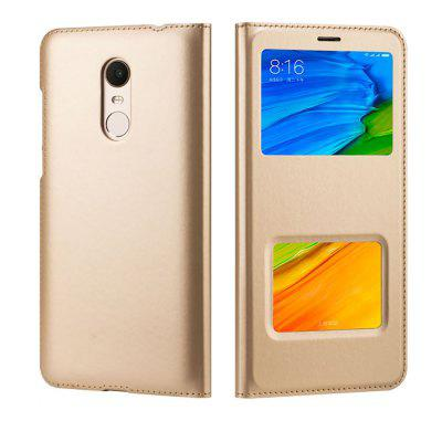 PU Leather Cover Case with Window for Xiaomi Redmi 5