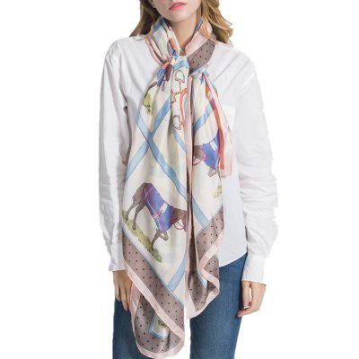 F1006 Like Silk Scarf Shawl Soft Lightweight Headscarf