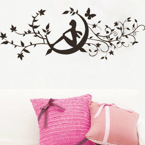 art decal decoration fashion romantic flower wall sticker - $7.52