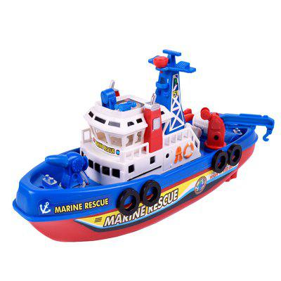 Marine Rescue Electric Light Water Spraying Fireboat Toy