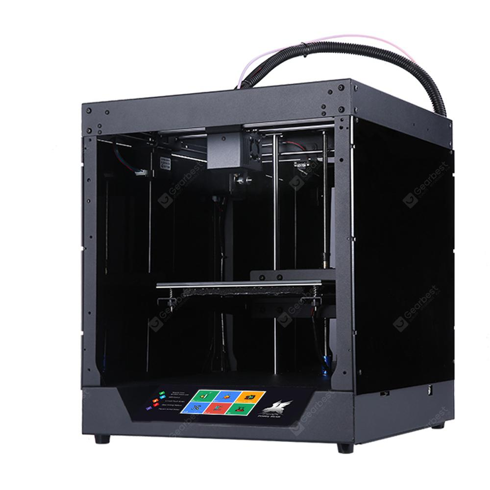 Newest Flyingbear-Ghost 3D Full Metal Frame Printer High Precision Glass Platfo - BLACK EU PLUG