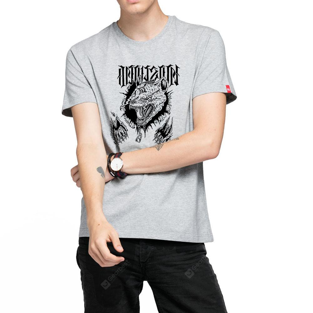 HB Men's Pure Cotton High Definition Printing T-shirt-000196