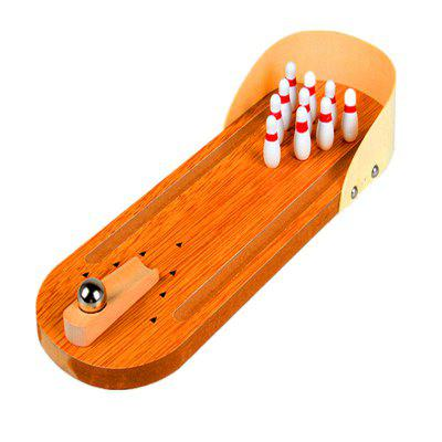 Wooden Mini Bowling Parent-child Interactive Decompression Creative Board Game puzzle 1000pcs oil painting adult toys child gift jigsaw party game paper environmental protection headstart decompression