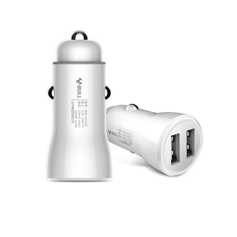 BULL 2.4A  Dual USB Car Fast Charger
