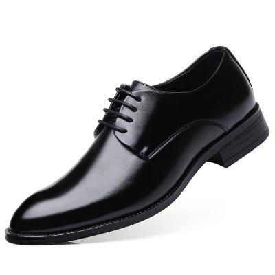 Men's Oxfords Leather Shoes Dress Formal Business Pointed Casual Fashion new men s casual genuine leather oxfords lace up brogues round toe business wedding shoe casual classical dress shoes for men