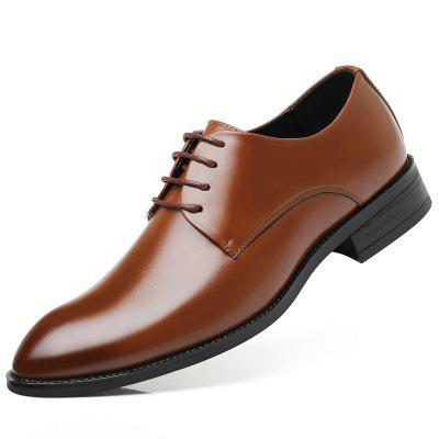 Men's Oxfords Leather Shoes Dress Formal Business Pointed Casual Fashion