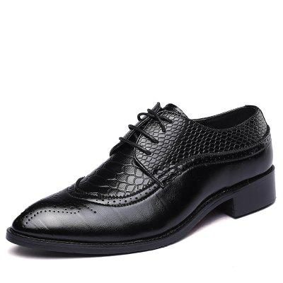 Men's Black Tuxedo Patent Leather Round Toe Formal Dress Shoes new arrival men casual business wedding formal dress genuine leather shoes pointed toe lace up derby shoe gentleman zapatos male