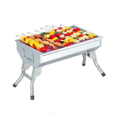 Outdoor Charcoal Courtyard BBQ Stainless Steel Medium Barbecue Frame vik max adult kids dark blue leather figure skate shoes with aluminium alloy frame and stainless steel ice blade