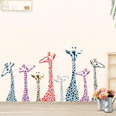 Dimensional Living Room Bedroom Engraving Handmade Giraffe Wall Sticker european style crystal wall lamp bedside lamp bedroom living room crystal wall lights aisle stairs hotel restaurant wall lamps