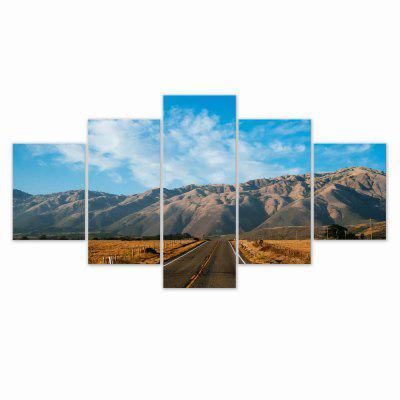 W318 Mountain Road Unframed Wall Canvas Prints for Home Decorations 5PCS