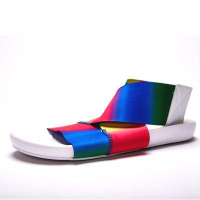 Summer Rainbow Camouflage Men's Fashion Sandals