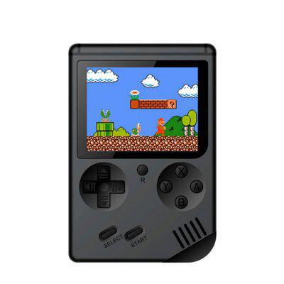 Gearbest Built-in 168 Classic Game Retro FC Handheld Console - BLACK 11.6 X 7.8 X 2 CM