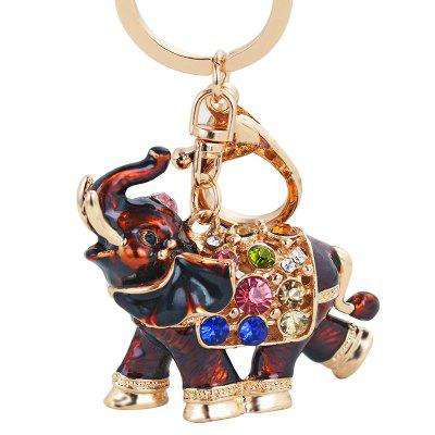 Genuine Dripping Diamond Elephant Car Keychain Girls Bags Pendant Gift Key