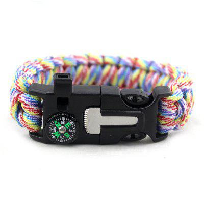 Multifunction Survival Bracelet on The Rope stylish survival glowing in the dark paracord bracelet white