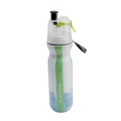 Double-Deck Sports Drink Spray Water Bottle Cold Insulation Outdoor