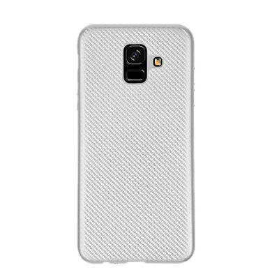 Cover Case for Samsung Galaxy A6 2018 Carbon Silicone Rubber Soft TPU