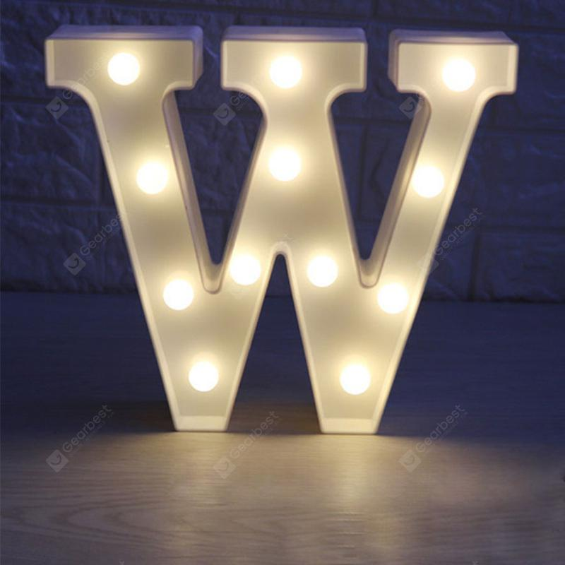 Led Light 26 Letters Festival Lovely Decoration Multi