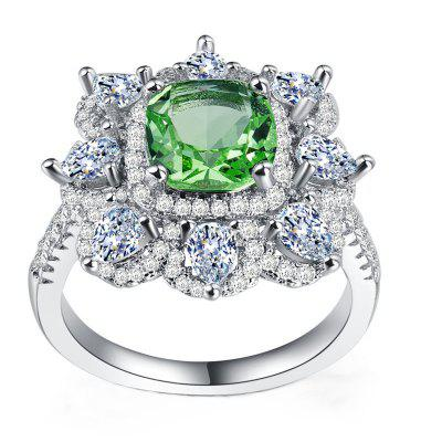 Mode Crystal Green Party Ring