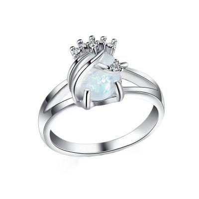 Fashion Hollow Opal  Gemstone Ring