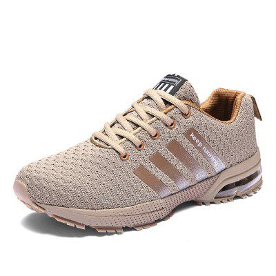 Men Breathable Flyknit Air Cushion Running Shoes