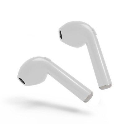 OLLLY I7TWS Bluetooth Earbud Mini Wireless Earphone In-ear Earpiece Cordless Hands Free Headphone - WHITE