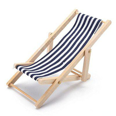 Mini Furniture Model Finished Stripe Wooden Deck Chair 4848 Free Awesome Shipping Furniture Model