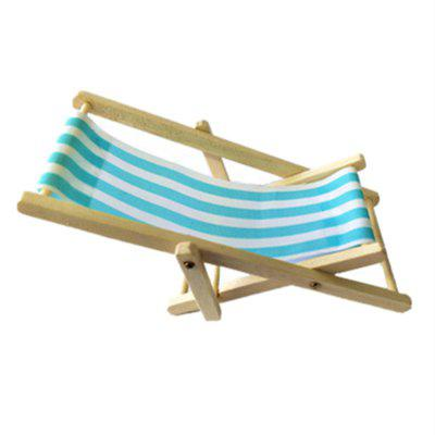 Mini Meubels Model Finished Stripe Wooden Deck Chair