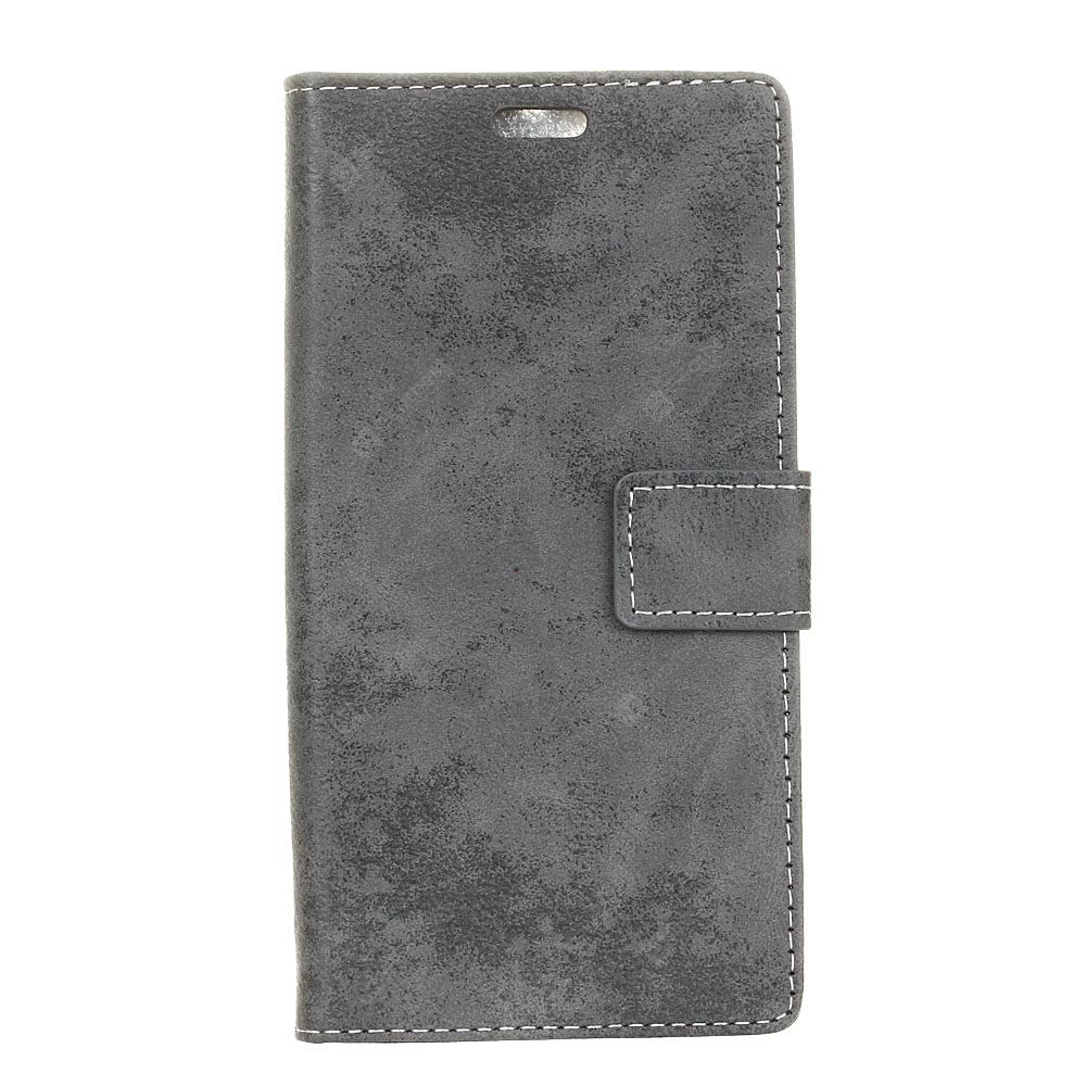 Durable Retro Style Solid Color Flip PU Leather Wallet Case for Xiaomi Mi Note 2