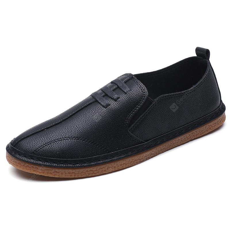 Men Solid Casual Leather Shoes