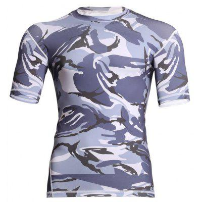 Men's  Sports Camouflage Suit Fast Dry Bullet Compression Tights T-Shirt
