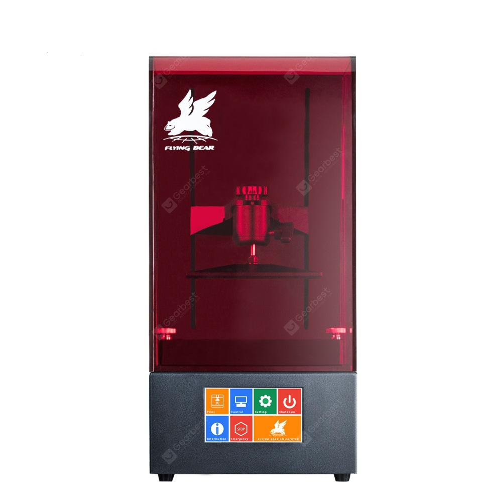 Newest Flyingbear Shine UV Resin DLP Color Touch Screen 3D Printer - BLACK EU PLUG
