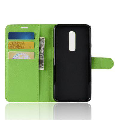 Luxury Wallet Style Front Buckle Flip Case with Card Slots for OnePlus 6