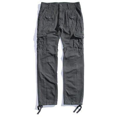 Men's Straight Line Overalls Outdoor Sports Loose Baggy Trousers